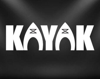 Kayak decal, paddle, sticker, watersport, kayak sticker......Cool!!