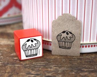 Cupcake Rubber Stamp