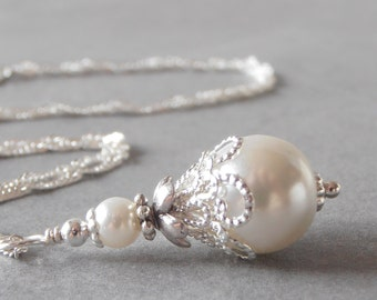 Pearl and Crystal Wedding Jewelry by FiveLittleGems on Etsy