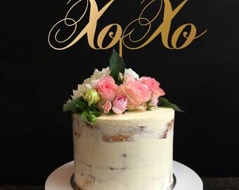 XOXO Cake Topper, Wedding Cake Topper,Valentine's Day Cake topper