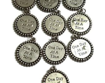 10 Pc Charm Blow Out! ODAT Irregular Charms *Drastically Reduced* One Day At A Time - 12 Step Recovery Alcoholics Anonymous