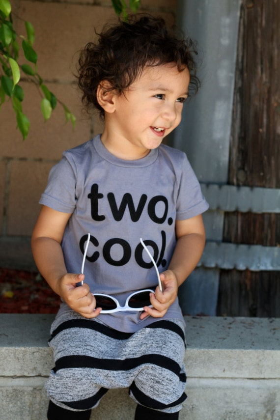 Two Cool Toddler Baby Boy Girl Two Cool 2 Year
