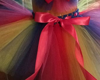 Rainbow Tutu and Hairbow
