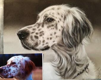 Custom Dog Portrait - Pet Portrait Painting From Photo - Personalized Art