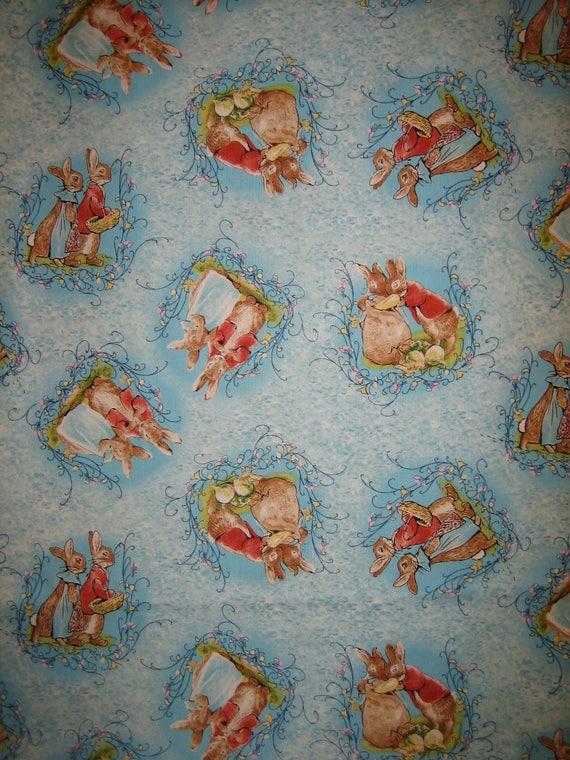 Beatrix Potter Flopsy Bunny Fabric Quilting Treasures Bthy