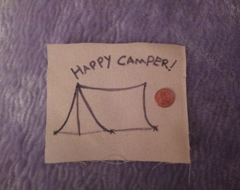 Happy Camper! Scout Tent Nature Folk Punk Patch