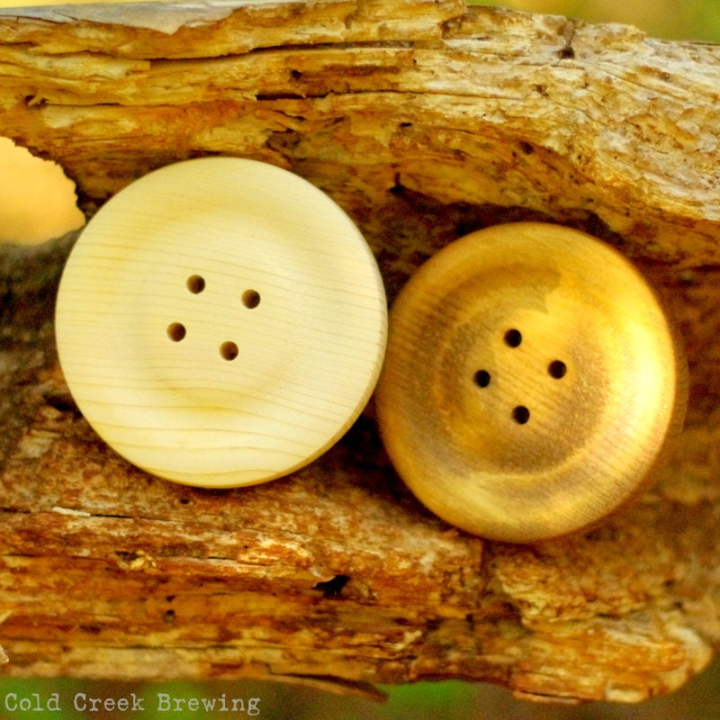 Giant Button Wall Decor Big Wooden Buttons 4 Qty. 2