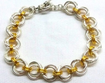 Mobius Weave Ladies Chainmaille Bracelet Chainmaille jewelry Aluminum bracelet