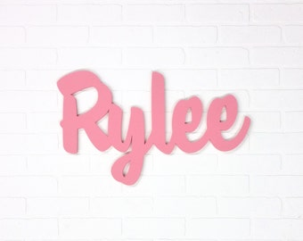 Hanging name sign Custom wood baby name gift First birthday gift Custom wood name sign First birthday party decorations