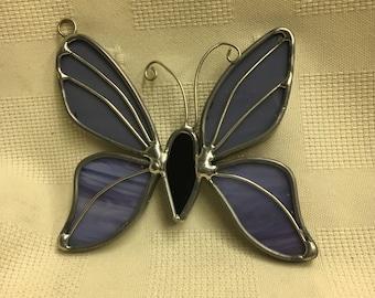 Small Purple Butterfly Sun Catcher