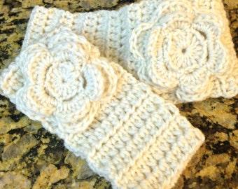 Flower Crochet Headband, Matching Mother/daughter headband, Handmade Crochet, Ear Warmers, Headband with a Flower, Winter Headband