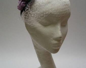 silk chiffon and velvet posie hair slide