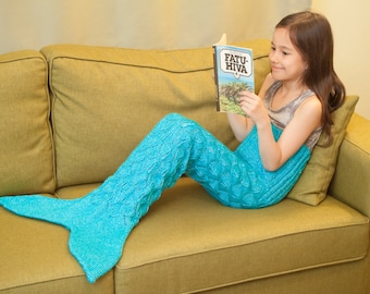 Knit Children's Mermaid Tail, for ages 4-7 years, FREE SHIPPING
