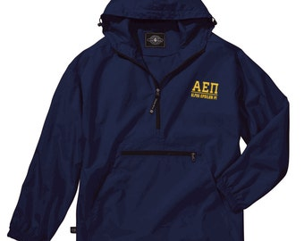 Alpha Epsilon Pi Pack-N-Go Pullover (light gold embroidery)