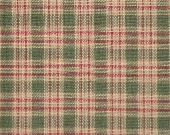 Homespun Material   Homespun Fabric   Plaid Material   Quilt Fabric   Cotton Home Decor Material   Country Cupboard Green Mini Plaid