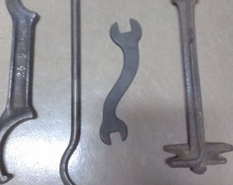 4 Unusual Antique Wrenches