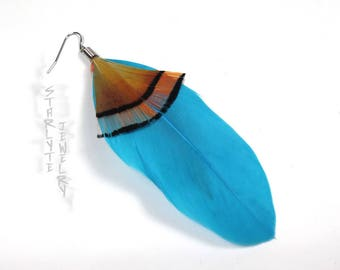Rachel Amber Life is Strange Single Blue Feather Cosplay Earring