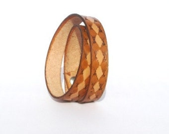 Southwest Double wrap Leather bracelet