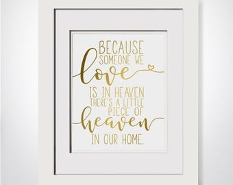 Because Someone We Love Is In Heaven|Bereavement Gift|Loss Of Father Gift|In Memory Of Husband|Condolence Gift|In Memory Of Dad|Loss Mother