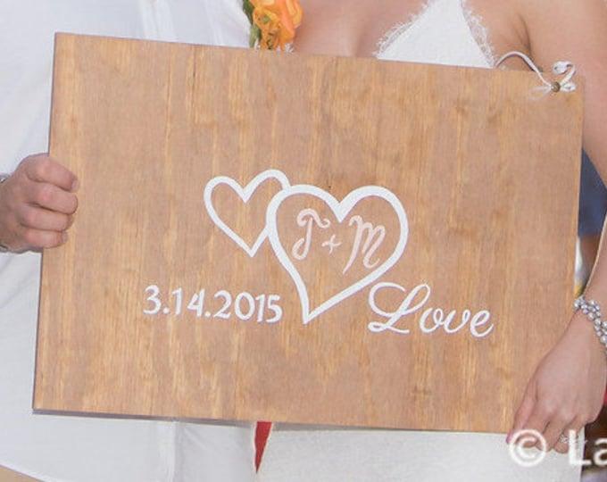 Wedding Guest Book Alternative Wood Sign, Rustic Guest Book Alternative Wedding Gift. Guestbook Alternative