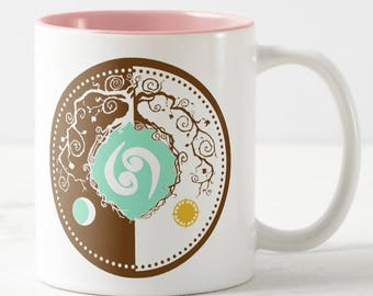 Tree of Life Zodiac Coffee Mug for the Sign of Cancer