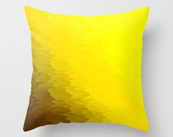 Pillow Cover, Yellow Throw Pillow, Yellow Pillow, Yellow Toss Pillow, Bedroom Decor, Yellow Home Decor, Yellow Pillow, Yellow Ombre PIllow