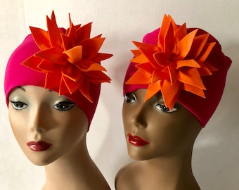 Fuchsia HerHat Orange Flower, Gifts For Her