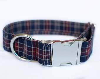 Plaid Collar | Pet Collar | Male Dog Collar | Large Dog Collar | Small Dog Collar | Gift for Pet Lovers | Gift for Dog Lovers