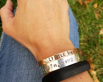 Personalized Hand-Stamped Copper Cuff Bracelets