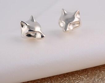 Sterling Silver Fox Stud Earrings - Fox Gift - Fox Jewelry - Fox Earrings - Fox Studs - Foxy Lady Gift - Gift For Her - Fox Jewellery
