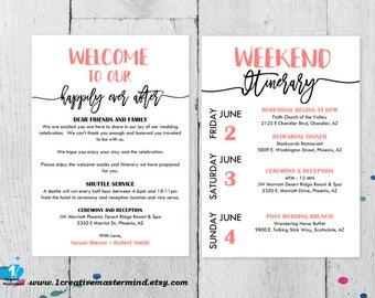 Wedding Templates Etsy - Wedding invitation templates: free wedding itinerary template