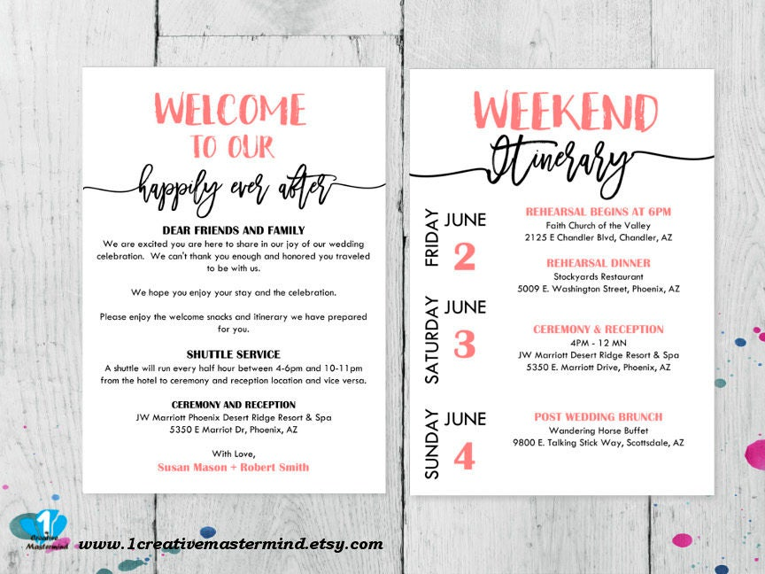 Contemporary Welcome Bag Letter Template Ideas - Resume Template ...