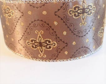 Indian style baroque brown ribbon