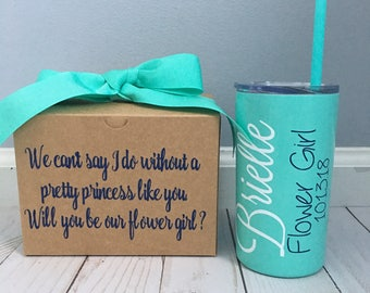 Flower Girl Proposal, Flower Girl, Flower Girl Gift, Bridsmaid Proposal, Proposal Box, Flower Girl Tumbler, Flower Girl Cup, Will You Be My