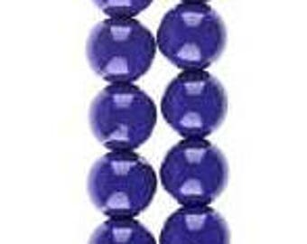 503 - Plastic, 8mm, Round, Purple - Package of 40