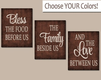 KITCHEN Wall Art, Canvas Or Prints, Kitchen Quote Decor, Bless The Food, Nice Ideas