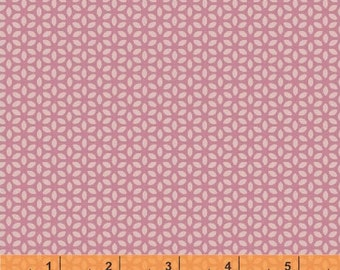 SALE - Forest Parade - Organic Cotton Print Fabric - Mini Flower Pink by Petit Collage from Windham Fabrics