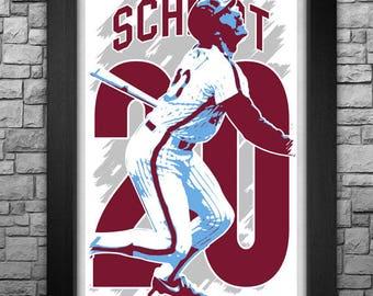 "MIKE SCHMIDT 11x17"" art print."