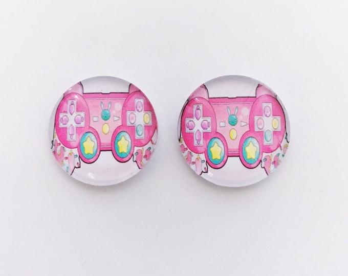 The 'Girl Gamer' Glass Earring Studs