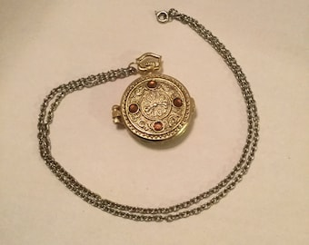 Pocket Watch Style Locket Pendant