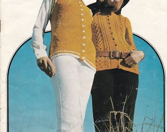 ON SALE Paton's Knitting Pattern No 960,  Patons Present The Long Cardigan  (Vintage 1970s)