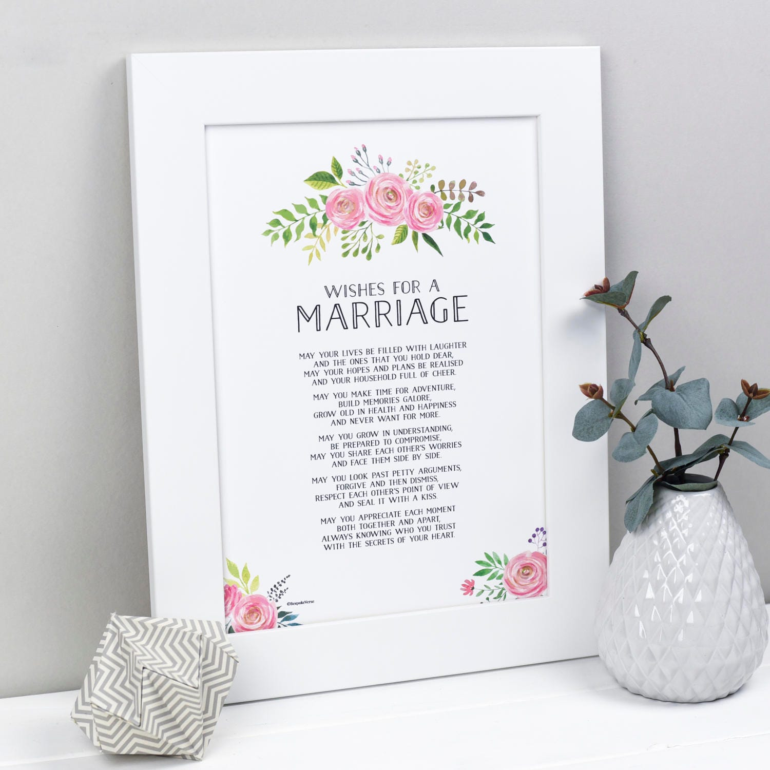 Poem For Wedding Gifts: Wedding Gift Marriage Poem Wedding Print Marriage Gift