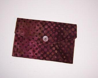 Baumwolle Batik Portemonnaie, Geldbörse mit Reißverschluss, minimalistischen Brieftasche, Reisepass
