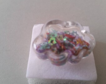 Bubble cloud ring colored stars