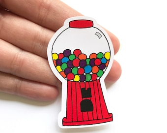 Gumball Stickers - Cute Stickers - Envelope Stickers - Gum Stickers Envelope Seals - Packaging Stickers