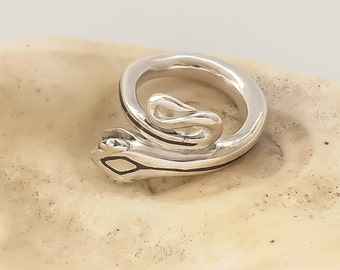 Snake Ring with Raw Diamond in its Mouth -- Limited Edition