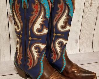 Size 7.5 B Ariat Handpainted Women's Western Boots