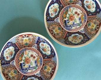 Vintage Imari Ware Plates Japanese Imari Plate set of 2 decorative plates hollywood regency gold chinoiserie plates oriental decor : oriental tableware set - pezcame.com