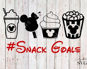 Snack Goals svg, Disney snack goals svg, disney svg, Mickey Mouse svg, Snack Goals iron on transfer, digital download dxf png, Disney trip