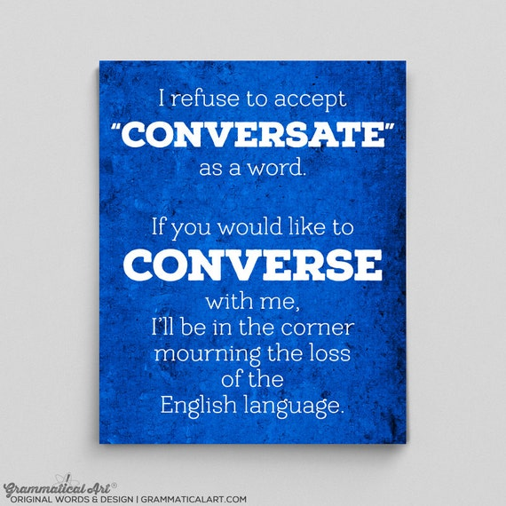 Is conversating a word
